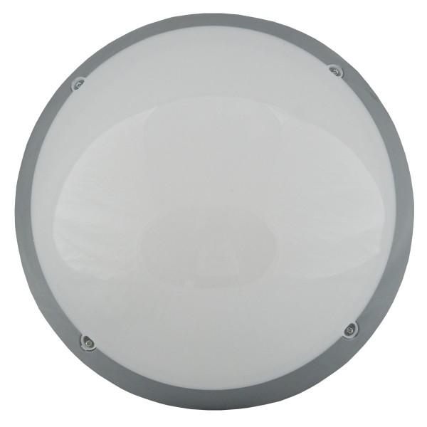 PLAFONIERA ROTUNDA PC. 1xE27 DISP OPAL FI:30CM GRI IP65 NEM