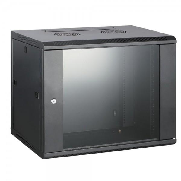 Rack Cabinet de Perete 12U,Asamblat,Capacitate de Incarcare 60 Kg, 600X600 MM, H 600MM