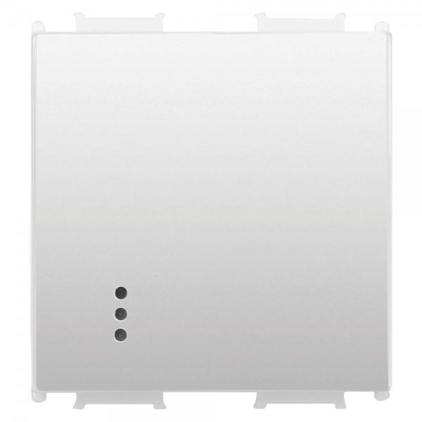 Capac pentru Întrerupător cu led, alb, 2 module