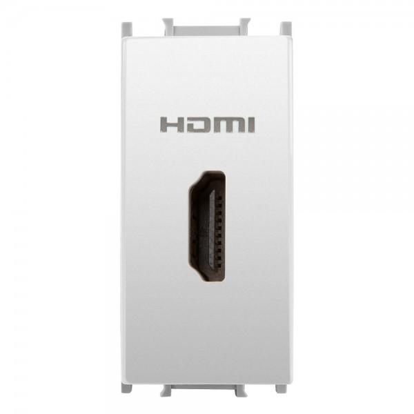 Priză TV HDMI, modulară, alb, 1 Modul