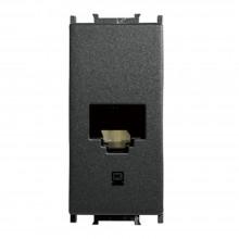 Priză calculator CAT5 modulară, negru, 1M