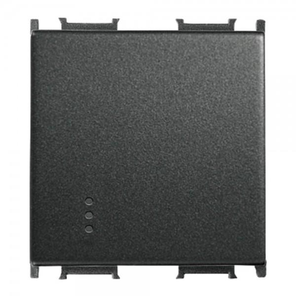 Capac pentru  Întrerupător cu led, negru, 2 M