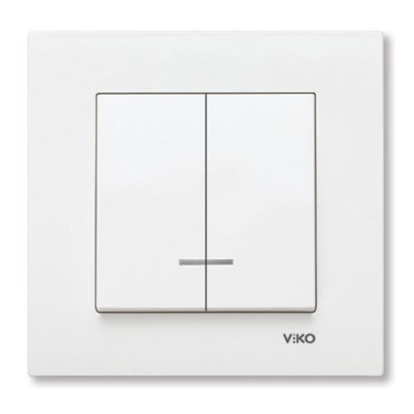 COMUTATOR CU LED 10AX 250V ALB