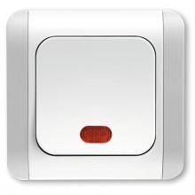 INTRERUPATOR SIMPLU CU LED 10AX 250V ALB