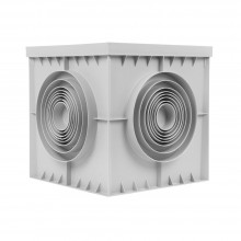 DOZA TIP CAMIN D:20x20CM CULOARE GRI PLASTIM IP30
