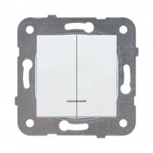 MECANISM-COMUTATOR CU LED 10AX 250V ALB ARKEDIA SLIM /KARRE PLUS