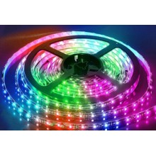 BANDA LED 5M 60LED/M 5050 14.4W/M RGB 24VDC IP20